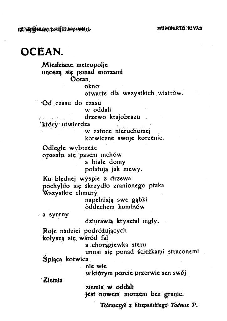 Tadeusz Peiper como traductor de la poesía ultraísta al polaco (1921