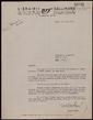 Carta mecanografiada de Michel Mohrt a Bernard Lesfargues