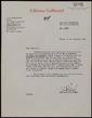 Carta mecanografiada de Catherine von Bulow a Bernard Lesfargues