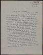 Carta manuscrita de Josep Maria Batista i Roca a Bernard Lesfargues