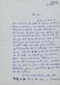 Carta manuscrita d'Andrée Paule Lafont a Bernard Lesfargues