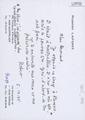 Targeta manuscrita de Robert Lafont a Bernard Lesfargues