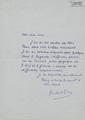 Carta manuscrita de Robert Lafont a Bernard Lesfargues