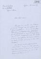 Carta manuscrita de Bernard Lesfargues a Jordi Sarsanedas