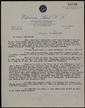 Carta mecanografiada de Joan Sales a Bernard Lesfargues