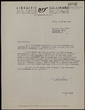 Carta mecanografiada de Michel Mohrt a Joan Sales