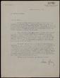 Carta mecanografiada de Xavier Benguerel a Bernard Lesfargues