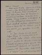 Carta manuscrita de Núria Folch i Pi a Bernard Lesfargues