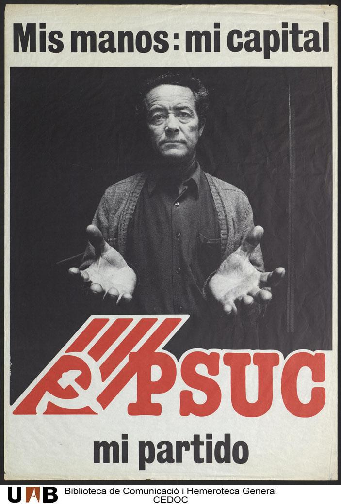Cartel del histórico PSUC
