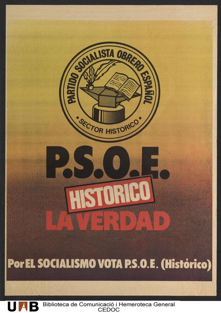 Resultado de imagen de PSOE HISTÒRICO