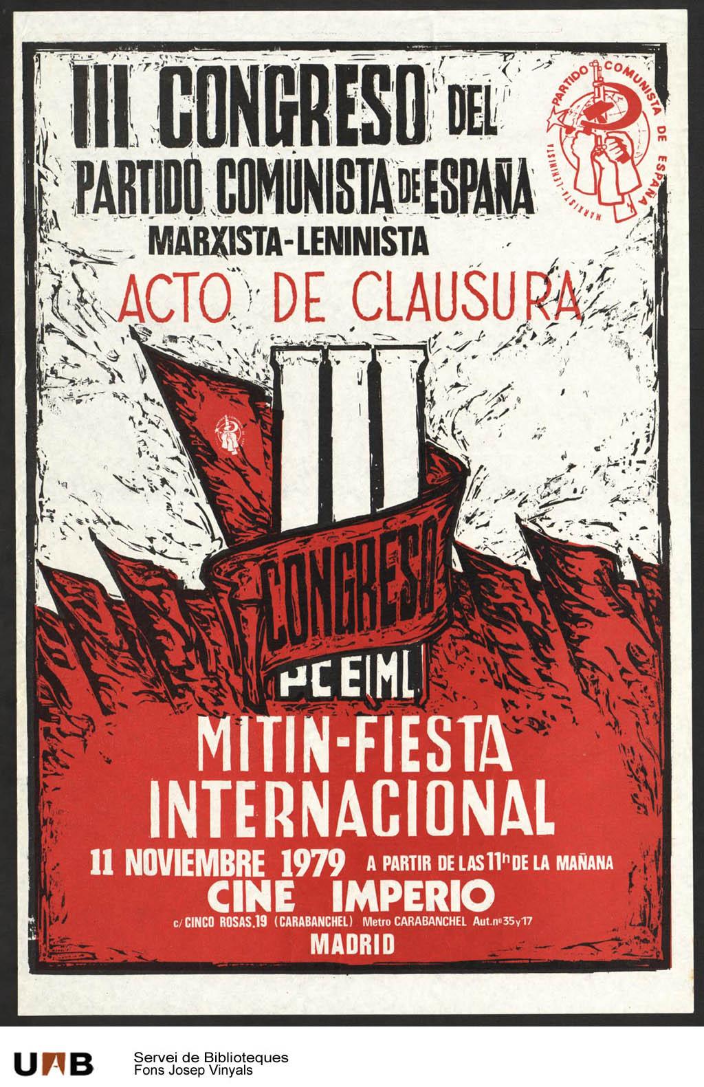 Resultado de imagen de partido comunista de españa marxista leninista imágenes