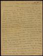 Carta manuscrita de Vicenç Caldés a Pere Calders