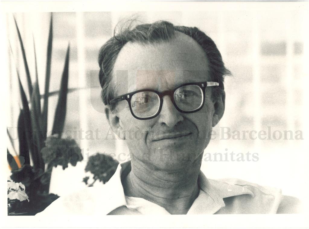 Autorretrat d'en Pere Calders a Llançà (1969). Autor: Pere Calders
