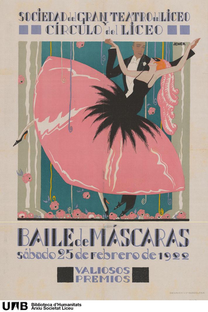 Baile de máscaras del sábado 25 de febrero de 1922