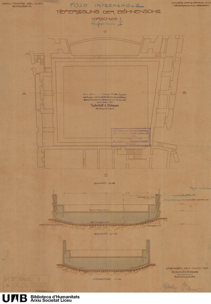 Tieferlegung der Bühnensohle : Vorschlag I