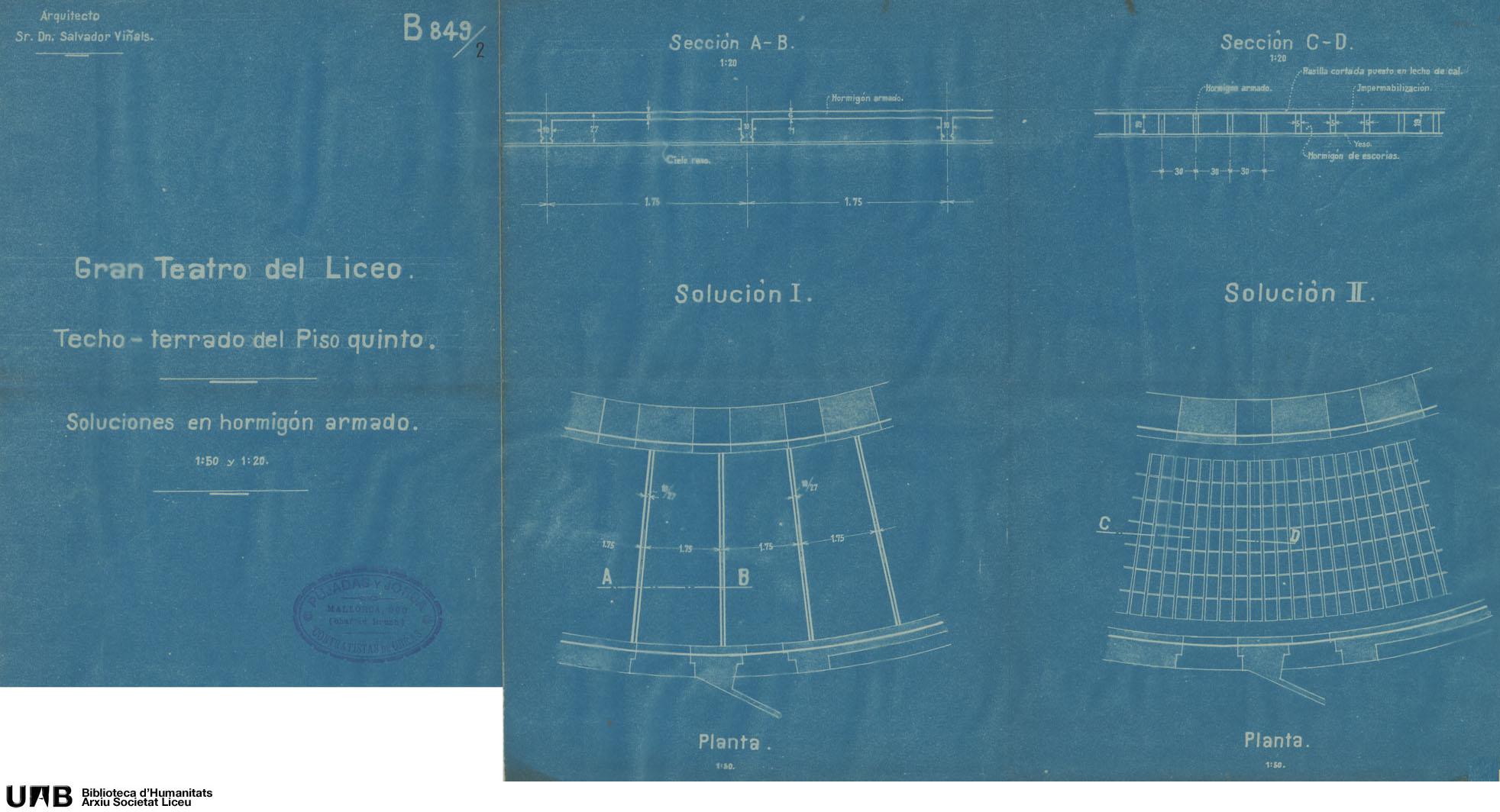 Techo-terrado del piso quinto : soluciones en hormigón armado