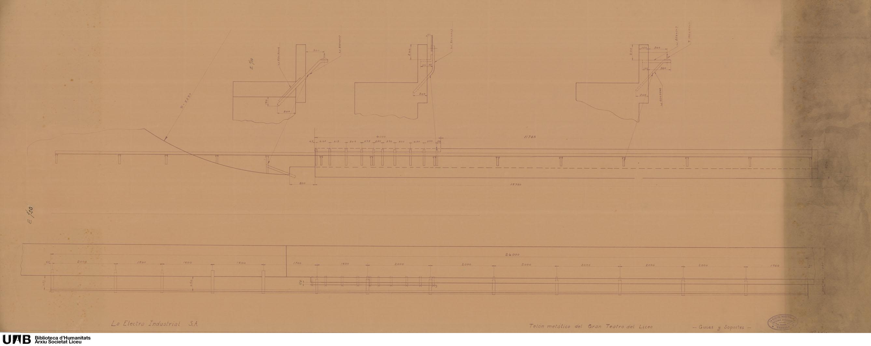 Telón metálico del Gran Teatro del Liceo : guías y soportes