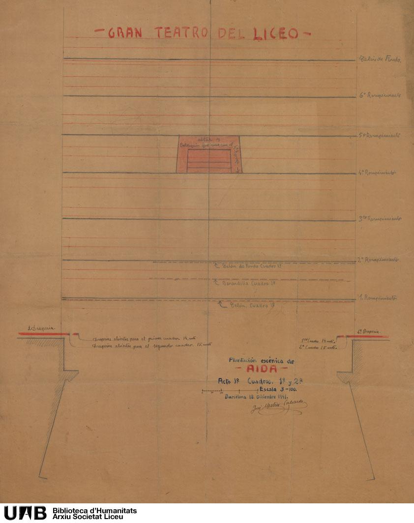 Aida : plantación escénica : Planta técnica