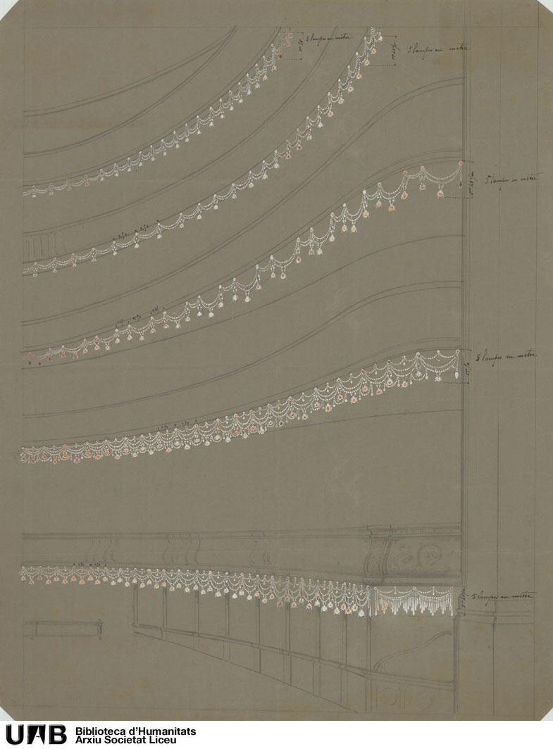 Proyecto de alumbrado de la sala : Perspectiva parcial de la sala