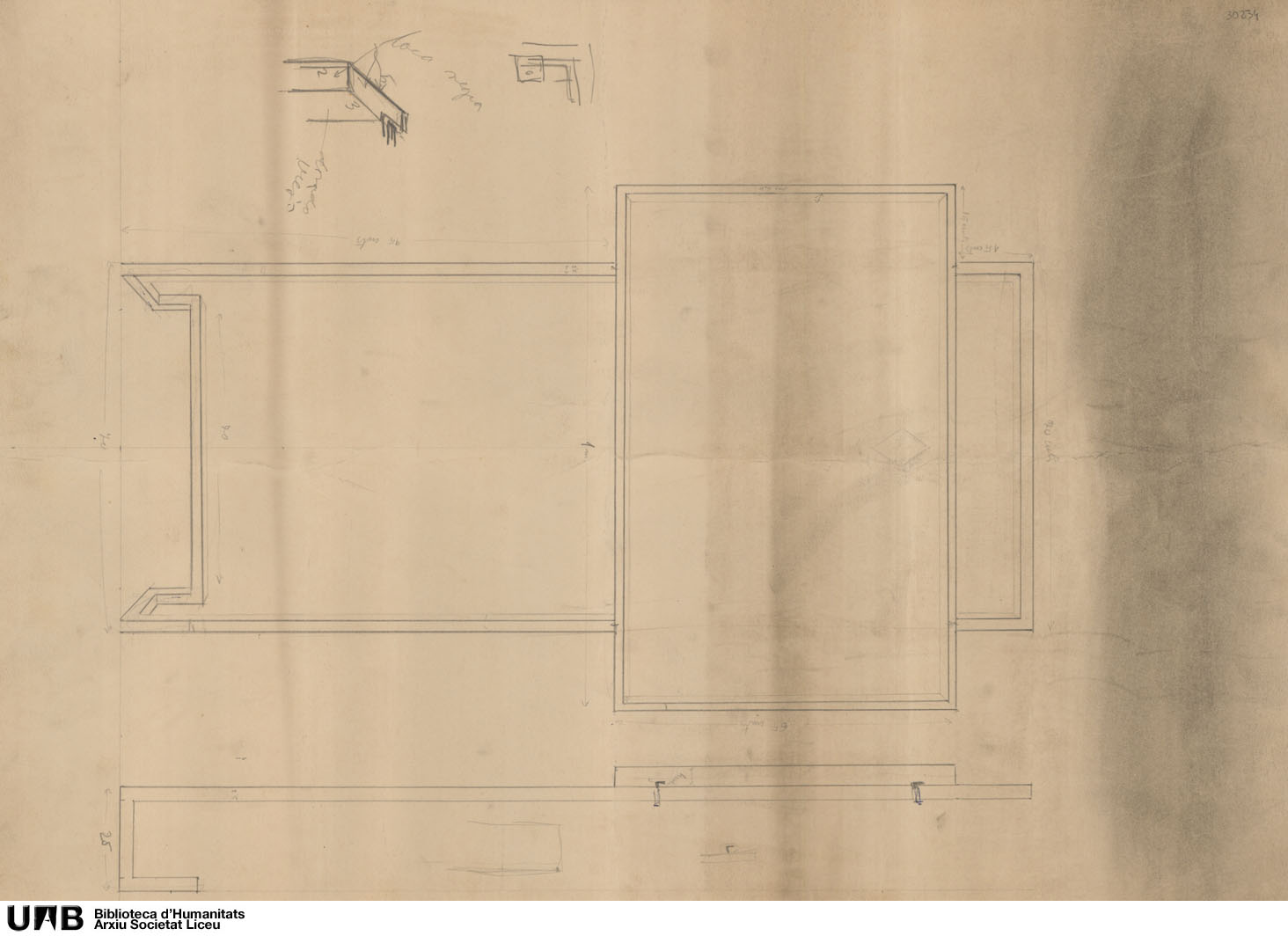 Estructura metálica para tablón