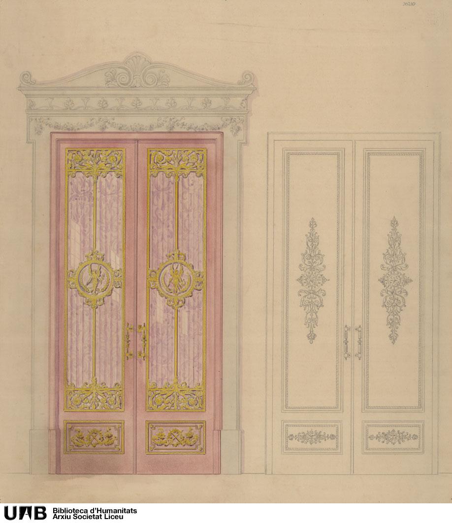 Alzado de puertas y marco