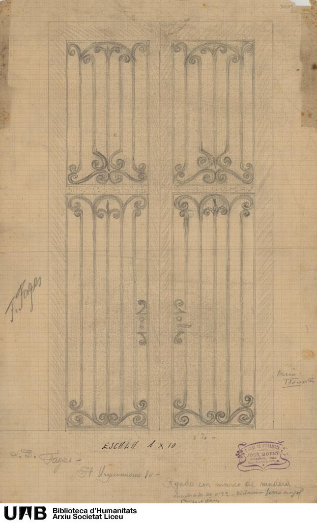 Rejado con marco de madera