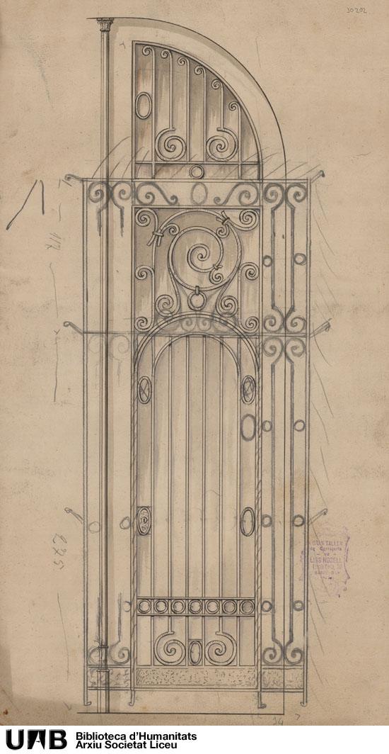 Puerta hierro casa nº 6 Rambla